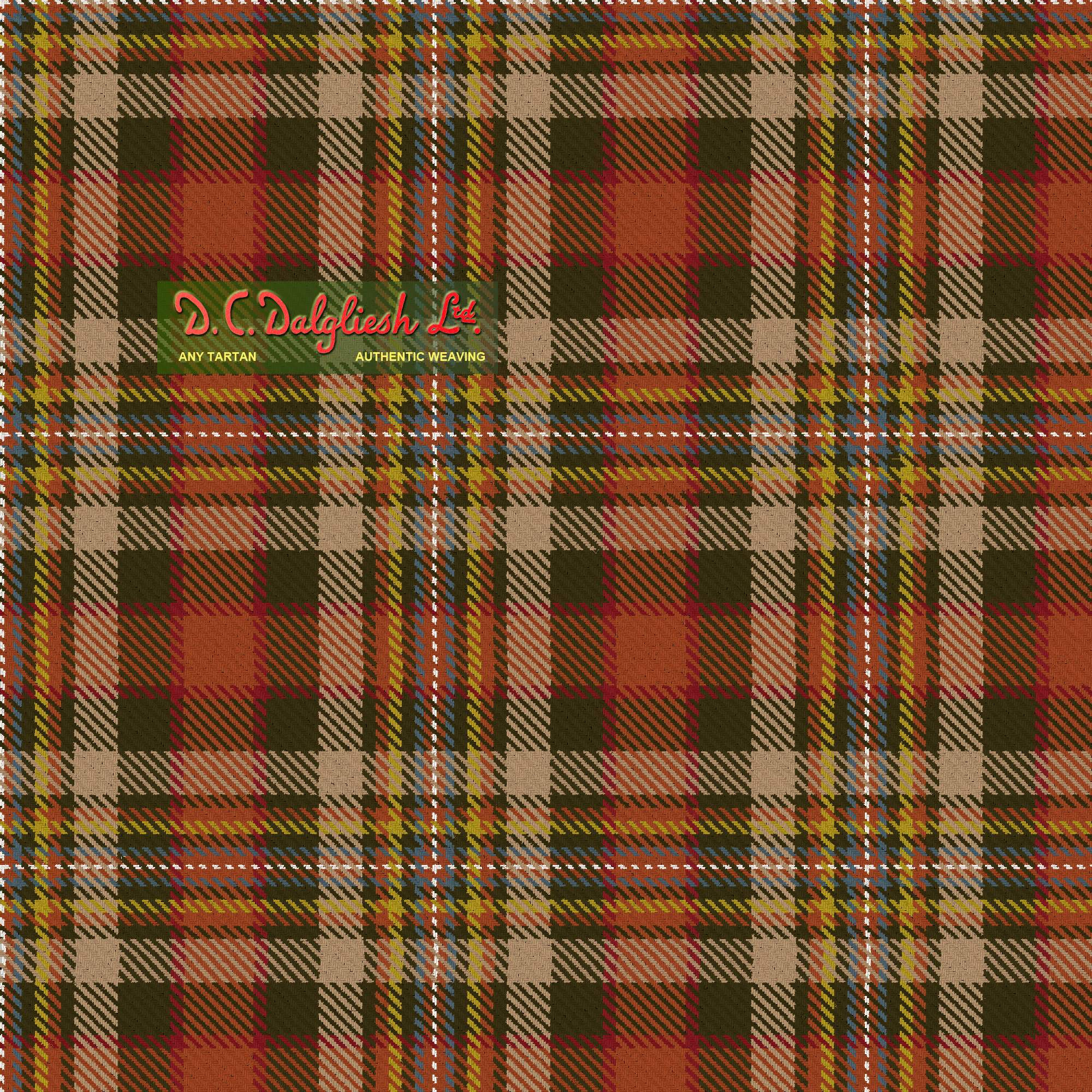 Unnamed C18th Plaid (Carlisle Mus) (Reproduction Colours)
